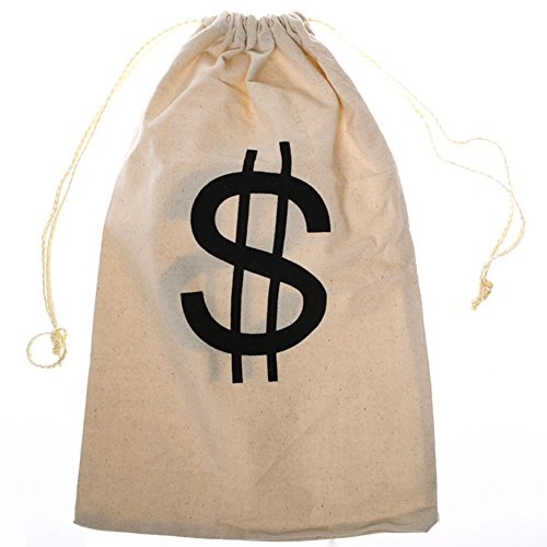 Large $ Money Drawstring Bag