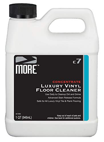 MORE Luxury Vinyl Floor Cleaner - Daily Use Concentrated Formula for Tile and Plank Flooring Surfaces [Quart / 32oz]