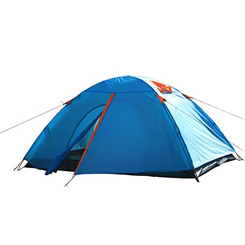 CAMPERS Camping Tourer Frame Dome Tent Available Double Layer Weatherproof Breathable Outdoor Unisex 2 Person For Beach Backpacking Hiking Summer Festival,blue