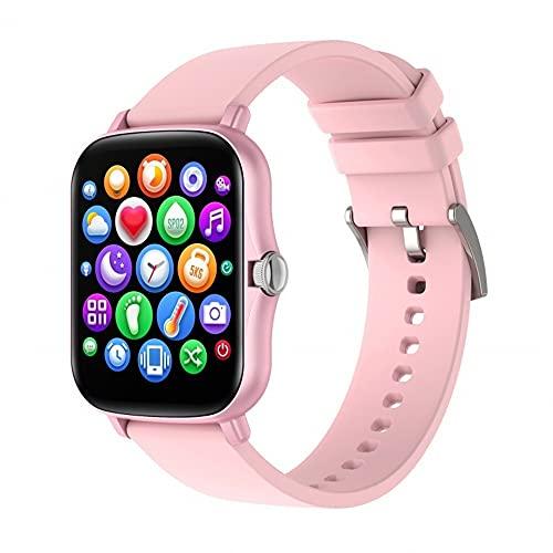 huanglanshangmao Ratio cardíaco Presión Arterial Sleep Monitoring Smart Watch Pantalla táctil Completa Modo Multi-Deporte Reloj Inteligente (Color : 1)