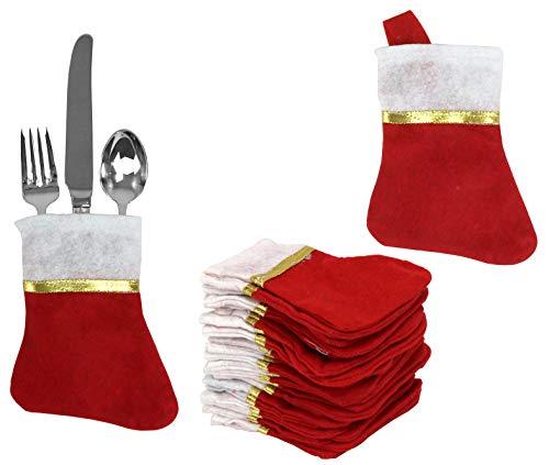 Iconikal Mini Christmas Stockings, 24-Pack
