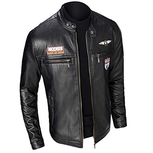 MEIbax Casual Chaqueta de la Motocicleta Biker de Cremallera para Hombre de...