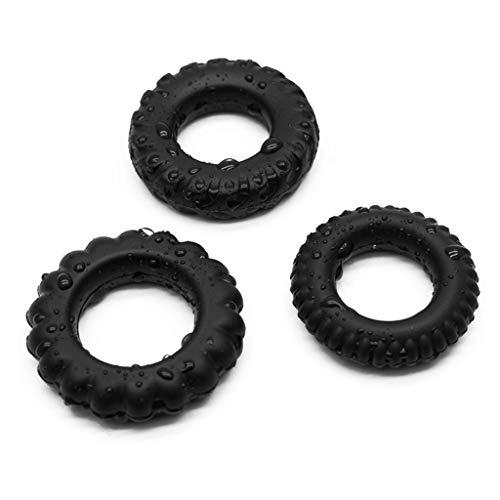 Lukay 3PCS Massage Ring Set Premium Stretchy Silicone Massage Ring Set for Men Longer Harder Stronger