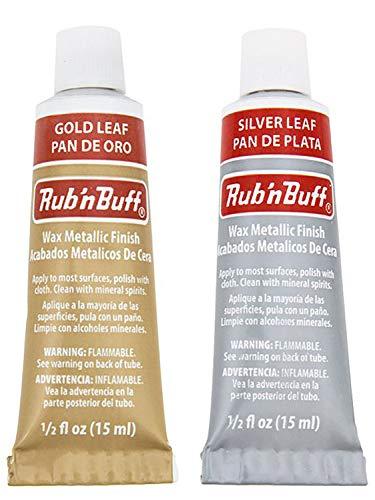 Rub 'n Buff Bundle (Silver Leaf and Gold Leaf)