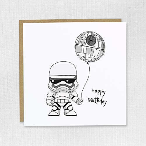 Stormtrooper Geburtstagskarte Star Wars Todesstern