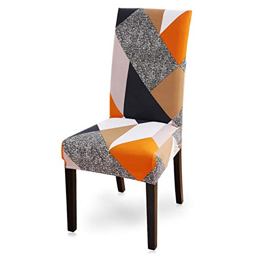 NA 1/2/4/6pcs Printing Dining Chair Cover Spandex Elastic Slipcover Removable Anti-Dirty Kitchen Seat Case Stretch Chair Cover,17,China