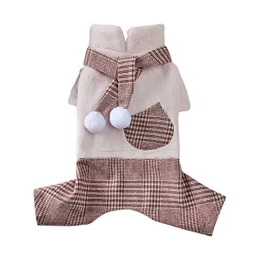 Deloito Haustierkleidung Hund Katze Shirt Winter Winddicht Sweatshirt Hairball Hunde Weste Jacke Kostüm Welpen Pullover Mantel (Rosa,X-Large)