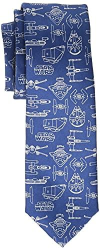 Star Wars Men's Line Drawing Tie Blue, One Size