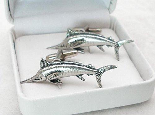 Boutons de Manchette Marlin (avec Boîte à Cadeau)