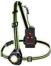 Westlight Looplicht, oplaadbare USB led looplamp sport, waterdicht, lichtgewicht lamp voor hardlopen, 500 lumen, instelbare stralingshoek, perfecte verlichting voor joggen, vissen, kamperen, kinderen enz.