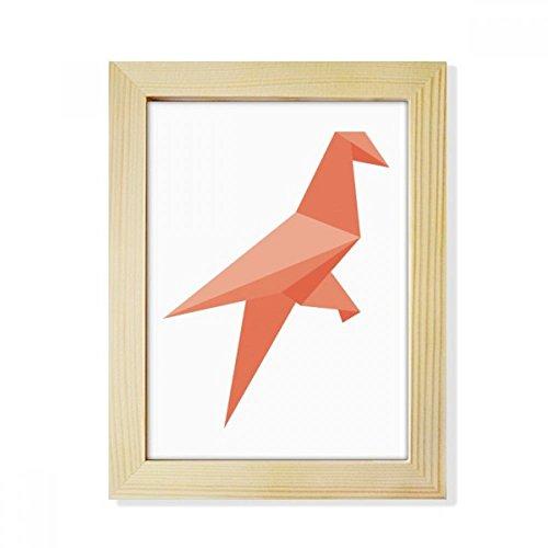 DIYthinker Rot Vogel Zusammenfassung Origami Muster Desktop-HÖlz-Bilderrahmen Fotokunst-Malerei Passend 15.2 x 20.2cm (6 x 8 Zoll) Bild Mehrfarbig