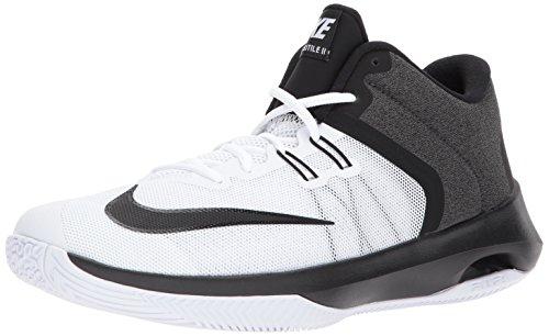 Nike Men's Air Versitile II Basketball Shoe, White/Black, 10.0 Regular US