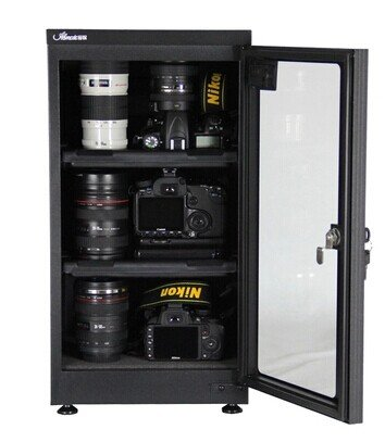 MXBAOHENG Abfalltonne LCD Entfeuchten Dry Schrank Box für Objektiv Kamera Equipment Aufbewahrung 25%-75% RH