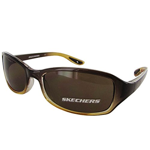 Skechers Unisex SK 6001 Childs Fashion Sunglasses, Brown To Amber Fade