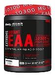 Body Attack Extreme Instant EAA Powder - 500g, extremadamente sabroso, instantáneamente soluble, vegano, 8 aminoácidos esenciales altamente dosificados - 10300mg EAA por batido, Natural