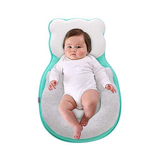 KIKILIVE Baby Lagerungskissen, Baby Stereotypes Kissen,Babyschlafhilfe Tragbare Babyschlafsack Babyliege Kinderbett Stubenwagen Matratze Babykissen