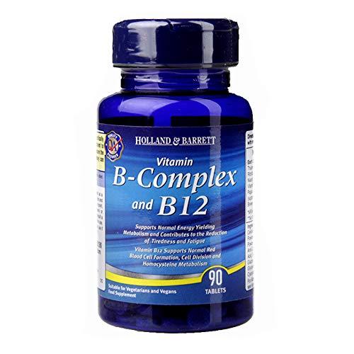 Vitamin B Complex and B12 Holland & Barrett 90 Tablets Vitamin B Complex and B12