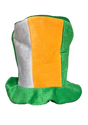 Wicked Fun - Cappello a cilindro irlandese, colore verde, bianco e arancione
