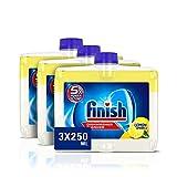 Finish Dishwasher Cleaner Liquid Lemon Triple Pack (3 x 250ml)