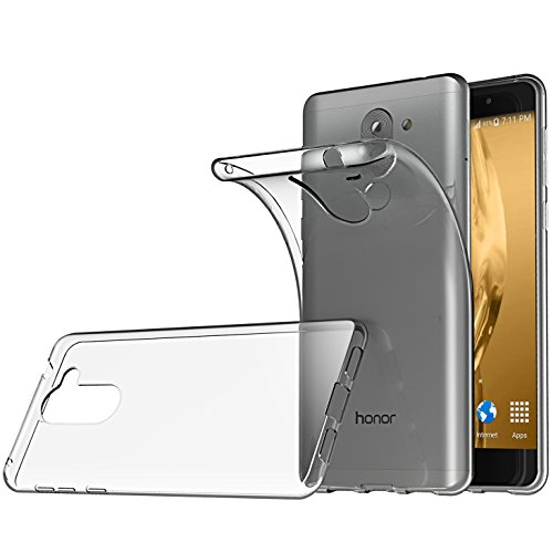 Huawei Honor 6X Hülle, Lanseed Crystal Clear Silikon Schutzhüle für Huawei Honor 6X Case TPU Bumper Cover Hülle Transparent