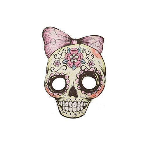Viving Kostuums 204588 Asstd. Skull Candy Maskers, Multi Color, One Size