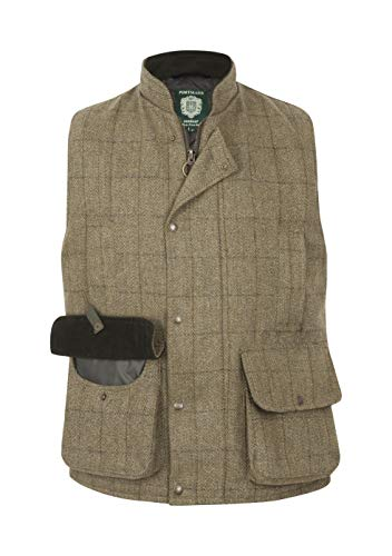 Portmann Mens Malvern Teflon Coated Tweed Gilet Made in UK
