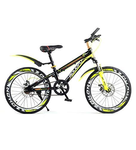 SJSF Y Cycling Vélo VTT Enfant Vélo Enfant pour Garçons Et Filles Partir De 5-8 Ans avec Freins V-Brake Et Rétropédalage - BMX 16'' Pouces Modèle 2019,Yellow