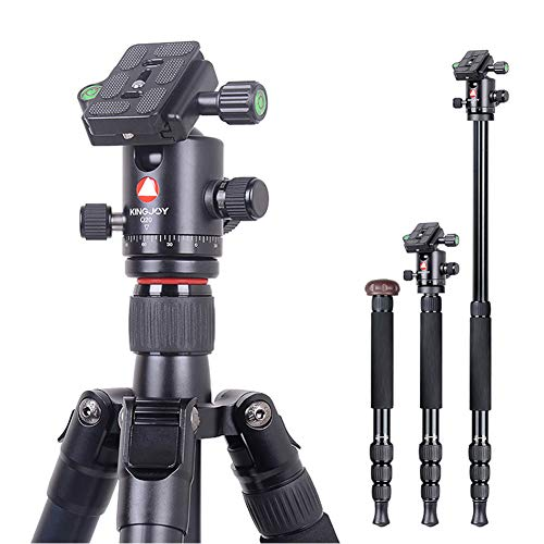 Camera Tripod 66 Inch Aluminum Alloy Tripod Monopod with 360 Panoramic Ball Head Quick Release Plate Travel Portable Digital SLR Camera