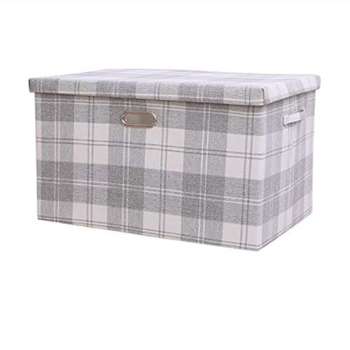ETRZ Faltbare Kleideraufbewahrungsbox aus Stoff (graues Gitter 32 * 24 * 18 cm)