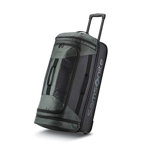 Samsonite Andante 2 Drop Bottom Wheeled Rolling Duffel Bag, Moss Green/Black, 28-Inch