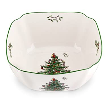 Spode Christmas Tree Square Bowl, Large