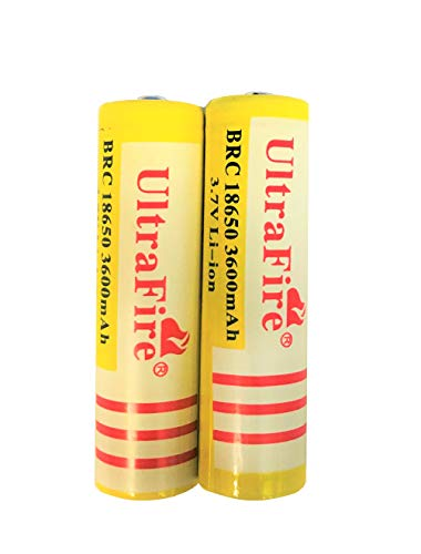 18650 Rechargeable Batteries 3.7V Large Capacity Battery BRC Long Life Rechargeable Battery Perfect...