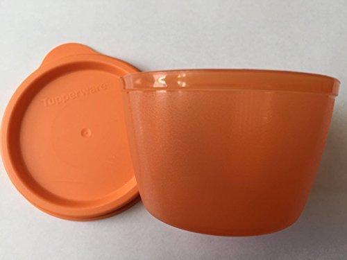 TUPPERWARE Kunterbunt Uno Dose Box Vorrat Uno Kühlschrank orange Mini klein Snack Baby Schnuller 120 ml