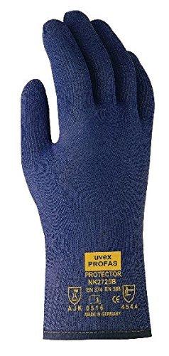 UVEX 60535 10 Protection d'écran chimique nk2725b Gants de sécurité, Taille : 10, bleu