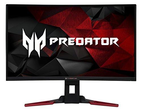 Acer Predator Z1 (Predator Z321QU) 80 cm (31,5 Zoll) VA Curved 1800R ZeroFrame Monitor Matt (HDMI, DP, USB 3.0, WQHD 2560x1440, 4ms GTG, 165Hz (OC), 300 Nits, HDR, Höhenverstellbar, NVIDIA G-Sync)