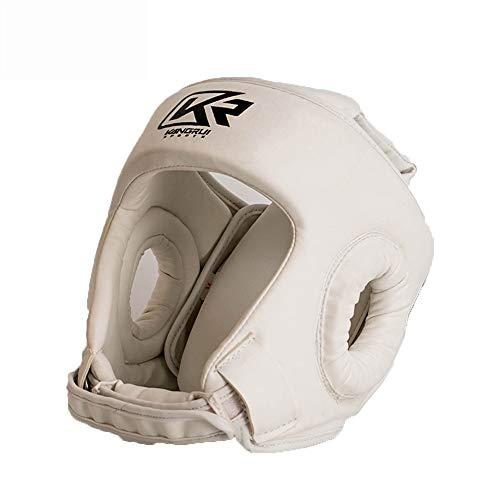 Boxing helmet Protección de Cabeza Sanda Completa, Casco de Boxeo de Seguridad Transpirable, ponible, cómodo y Transpirable, el Mejor Equipo para Principiantes, Adulto niño