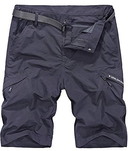 Vcansion Men's Outdoor Lightweight Hiking Shorts Quick Dry Shorts Casual Sports Shorts Dark Grey US 38