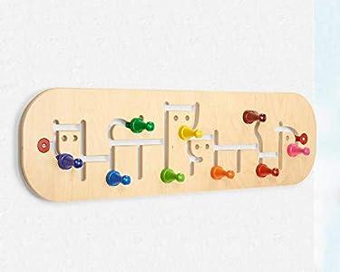 Selecta 60007 Movella - Perchero infantil de madera (74 x 20,5 cm)