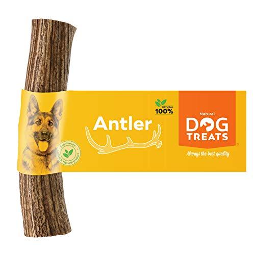 100% Natural Asta de Ciervo para Perro Cuerno Masticar Hueso Juguete, Tamaño Large