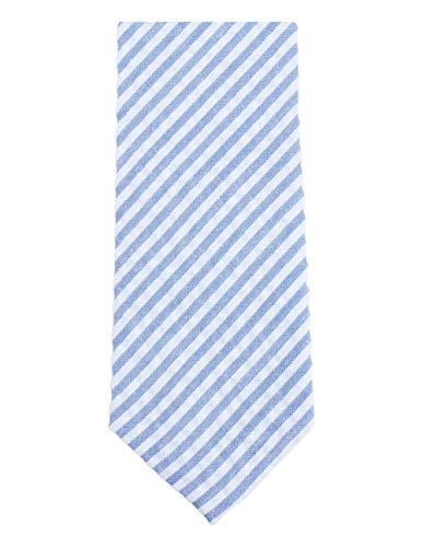 Diagonal de algodón de rayas corbata flaca de Knightsbridge Neckwear