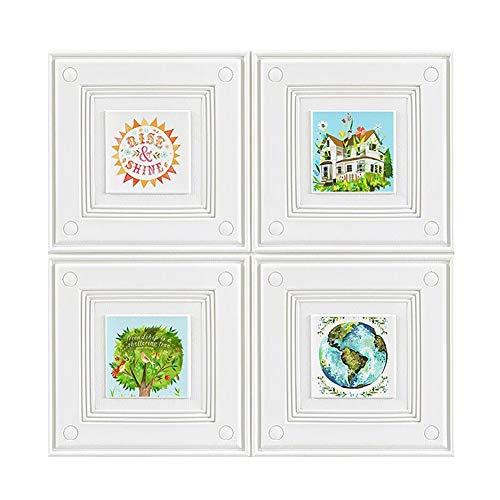 3D Dekorative Wandpaneele, 3D Backstein Wandaufkleber Peel and Stick Tapete Rise Shine Villa Muster für Küche Badezimmer TV Hintergrund Home Wanddekoration (Color : Pattern, Size : 5 Pack)