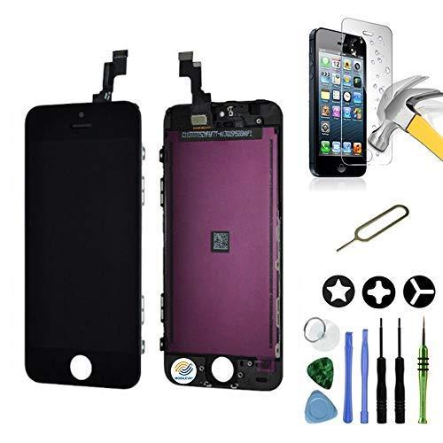 Mobilevie Pantalla LCD Retina + Pantalla Táctil En Chasis No iPhone Completa - Negro, iPhone SE