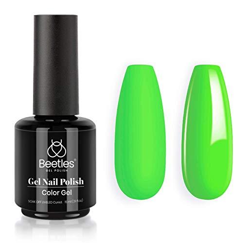 Beetles Gel Nail Polish, 1 Pcs 15ml Lilly Lime Color Soak Off Gel Polish Nail Art Manicure Salon DIY at Home