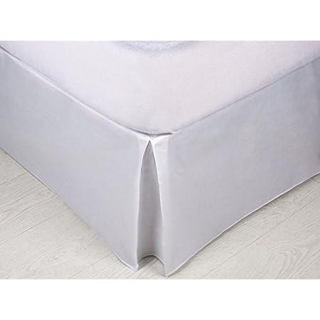MB - Cubre Canapé Blanco para somier - Cama 90x190-50% poliéster 50% algodón - Fácil de Colocar y Lavar