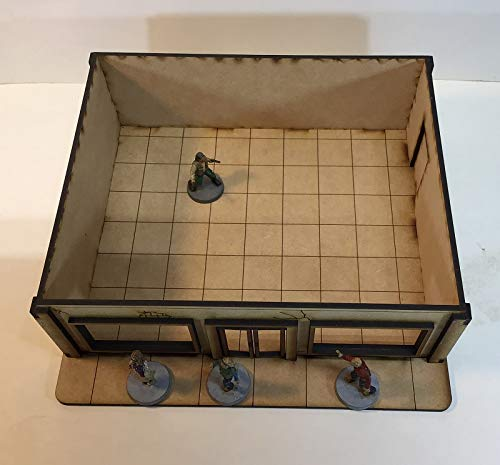 Marathon Gas Station 28mm Terrain MDF Building The Walking Dead All Out War Project Z FAST SHIPPING