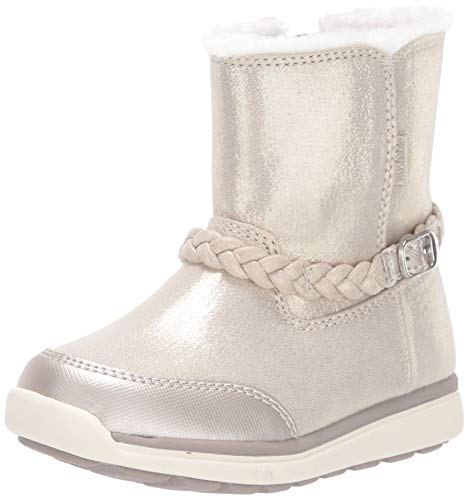 Stride Rite Baby-Girl s Ebony Ankle Boot, Silver, 5.5 W US Toddler