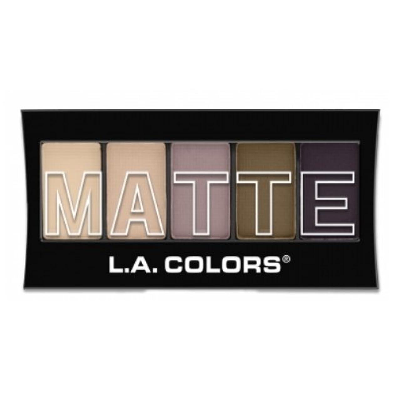 誤解勤勉な間に合わせ(3 Pack) L.A. Colors Matte Eyeshadow - Natural Linen (並行輸入品)