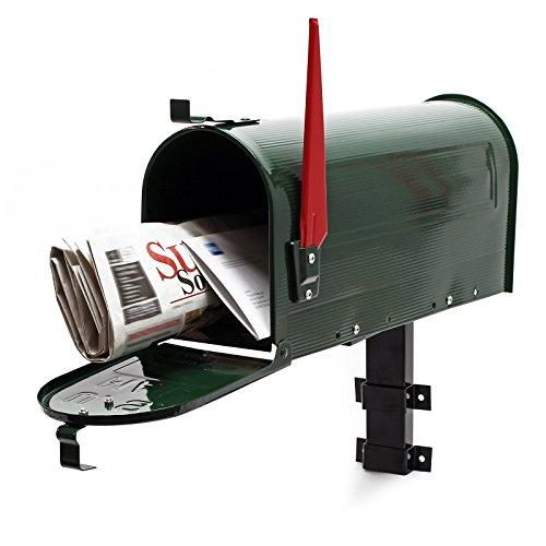 US Mailbox Briefkasten Amerikanisches Design grün mit passender Wandhalterung