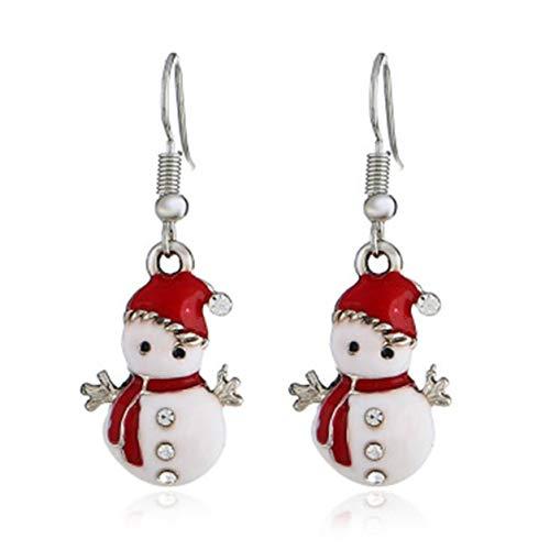 Color Yun Christmas Snowman Anti-Lost Earrings European And American Personality Fashion Creative Cute Doll Earrings Women
