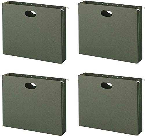 Smead Hanging File Pockets, 3-1/2 Inch Expansion, Letter Size, Standard Green (64220) (4 X Pack of 10)